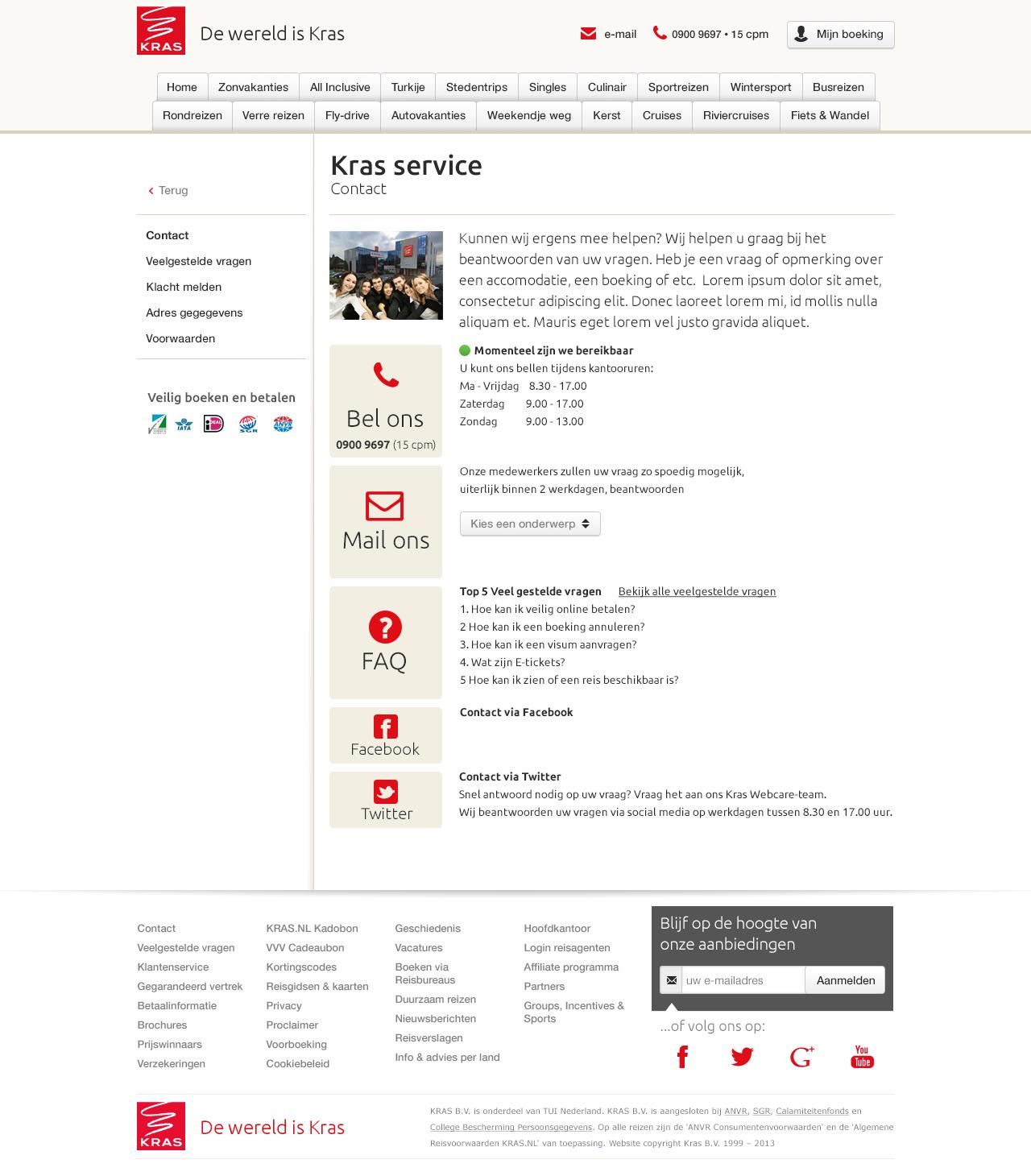 Servicepagina Kras