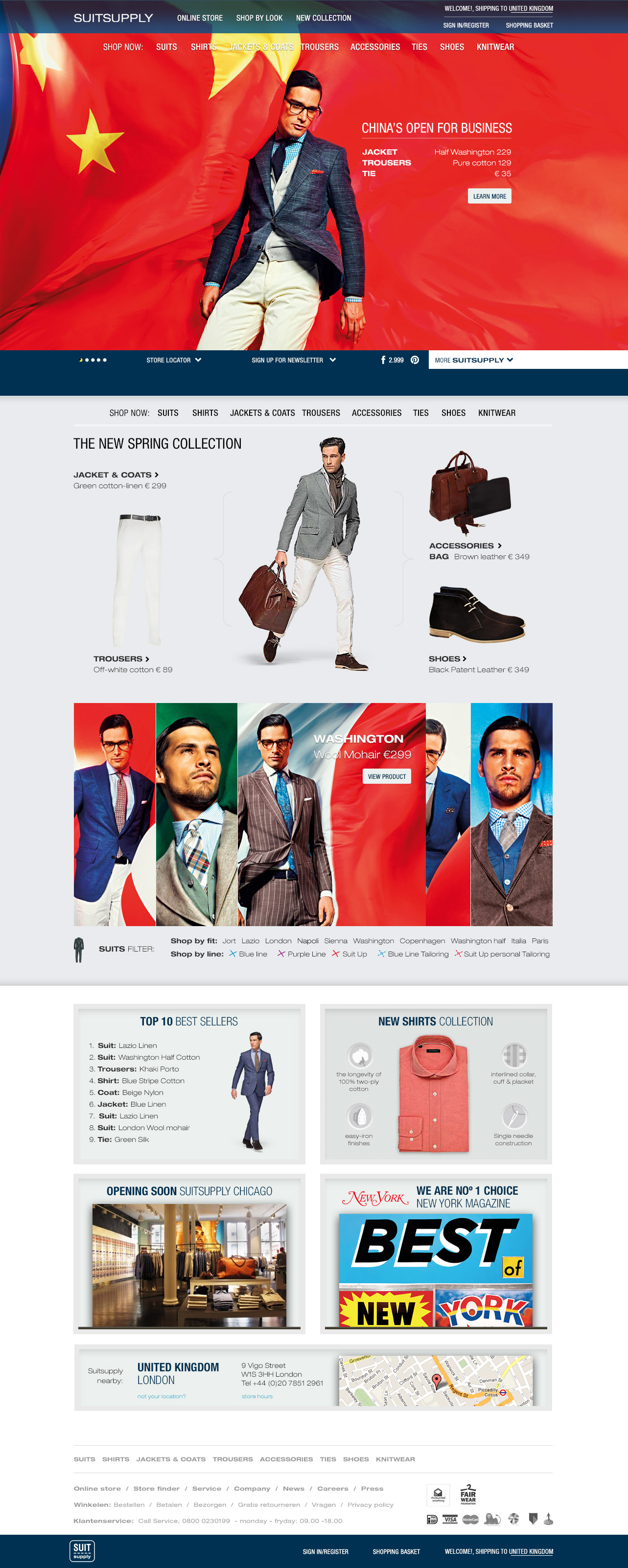 Homepage Suitsupply