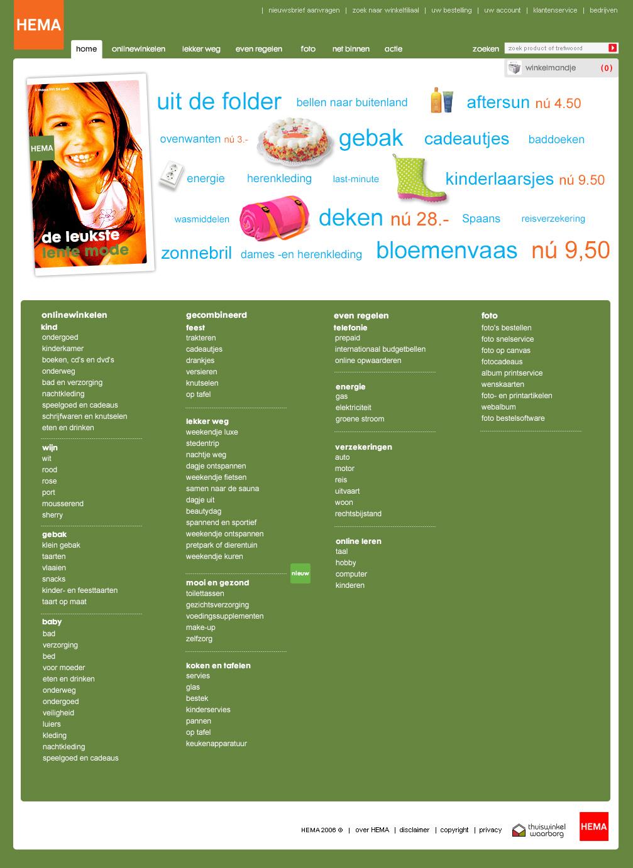 HEMA homepage tagcloud